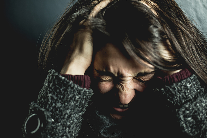 woman is stressed as she is not in control